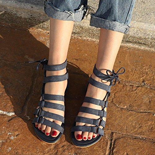 Femmes Femme Orthopedique Compensees Plates Ouvertes Ete Sandales Escarpin Sandales Grande Taille Noir Angelof Plage Chaussures Corde BohêMe Sandales Sandales nExqT1X