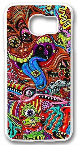 Price comparison product image Abstract Trippy Psychedelic Case for Samsung Galaxy S6 Edge PC Material White(Compatible With Verizon, AT&T, Sprint, T Mobile, Unlocked, Internatinal)