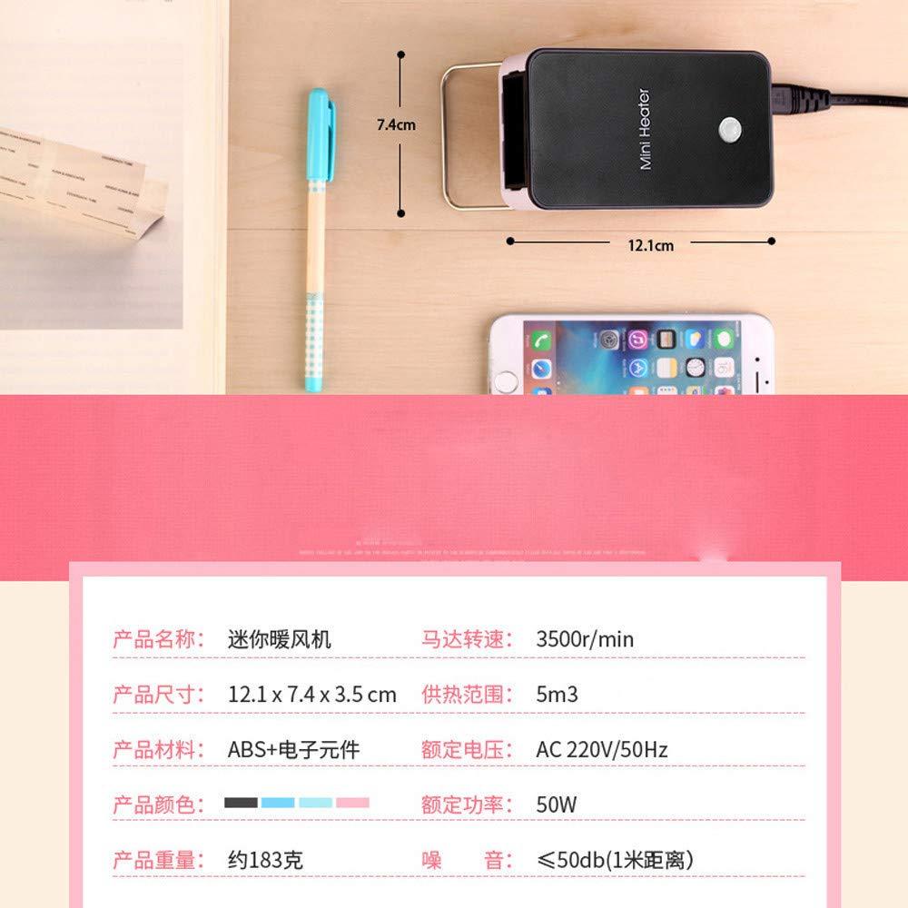 Glowjoy Mini chauffage portable en c/éramique /à /économie d/énergie 200 W Protection contre la surchauffe pour le camping noir le bureau et le salon