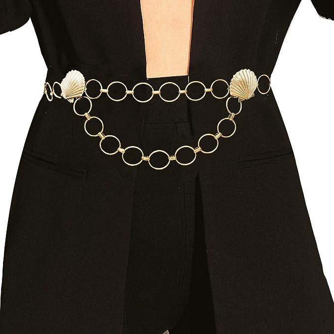 Amazon.com: Elegante cadena de metal con concha marina ...