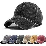Aedvoouer Men Women Baseball Cap Vintage Cotton Washed Distressed Hats Twill Plain Adjustable Dad-Hat