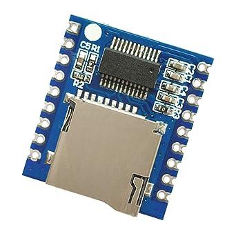 Almencla MP3 Player Audio Module Voice Board Sound Board, UART