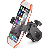 iKross Bicycle Mount Universal Bike Cycling Rack Handlebar Holder Cradle with 360 Degrees Rotation, Rubber Strap For iPhone 8, X, 7 Plus 7 6S 6 SE 5, Galaxy S8 S7, Note 8, 5 LG G6 G5 and More