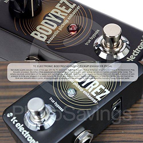 TC Electronic BodyRez 어쿠스틱 픽업 인핸서 페달 및 액세서리..