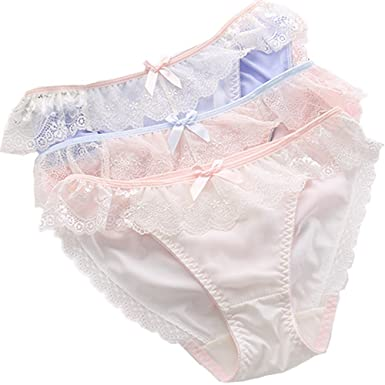 a691b09ac227 Image Unavailable. Image not available for. Color: TOMORI Womens Lace Floral  Panties Soft Breathable Bow ...