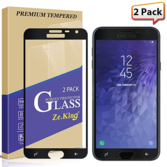 Amazon Com 2 Pack Samsung Galaxy J4 2018 Full Screen Tempered