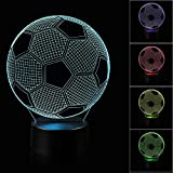 Best Night Light With Double Touches - 3D Illusion Soccer Night Light Lamp with 7 Review
