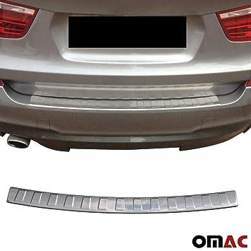 Protección para borde de carga cromado, parachoques trasero de acero inoxidable BMW X3 F25 con biselado: Amazon.es: Coche y moto