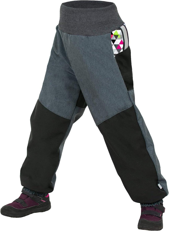 unuo Kindersoftshellschneehosen mit Fleece Hose Wasserabweisend Winddicht Atmungsaktiv Warm Funktionshose