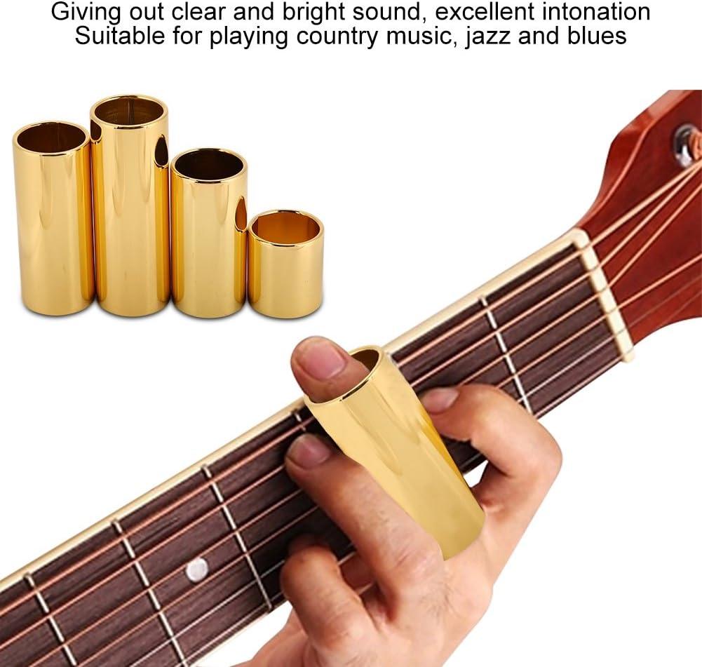 4PCS Guitarra acústica Slide Bass Slides Barra deslizante de metal ...