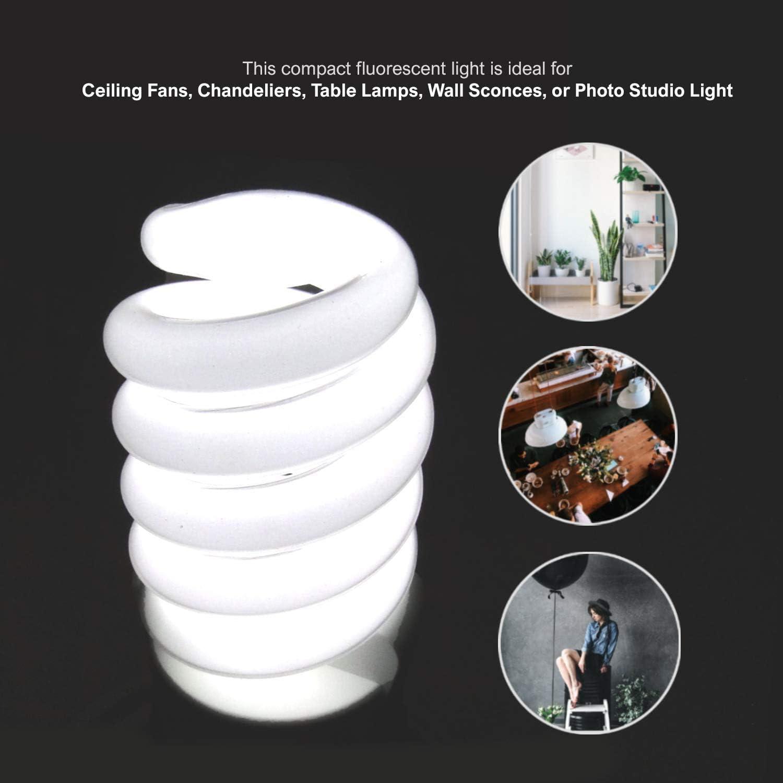 6500K Fluorescent CFL Daylight Balanced Light Bulb for Photography Photo Video Studio Lighting 2pack LimoStudio AGG2359 45 Watt