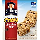 Quaker Chewy Granola Bar, Chocolate Chip, Snack Bars, 8 Bars Per Box (Pack of 12 Boxes)