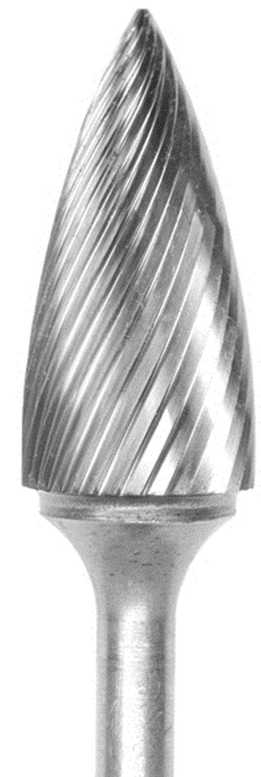 Carbide Bur Grobet U.S.A Made Tree Pointed 3/4x1-1/2x1/4 Standard Cut