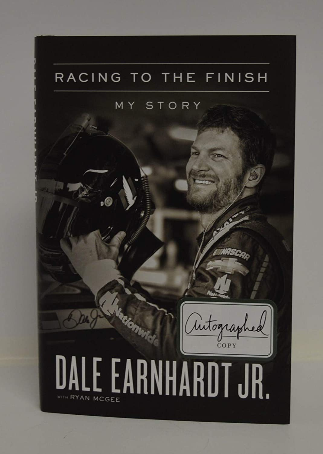 DALE EARNHARDT and co-author Ryan McGee signed 'Racing to the Finish: My Story' Hardcover Book FIRST EDITION