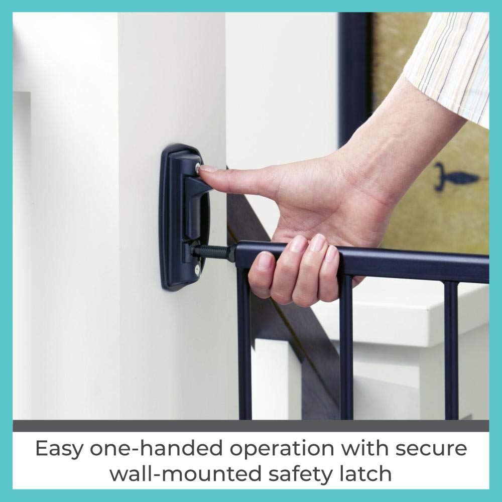 """Toddleroo by North States 47.85"""" Wide Easy Swing & Lock Baby Gate: Ideal for Wider Areas and stairways. Hardware Mount. Fits Openings 28.68"""" - 47.85"""" Wide (31"""" Tall, Matte Bronze) : Indoor Safety Gates : Baby"""