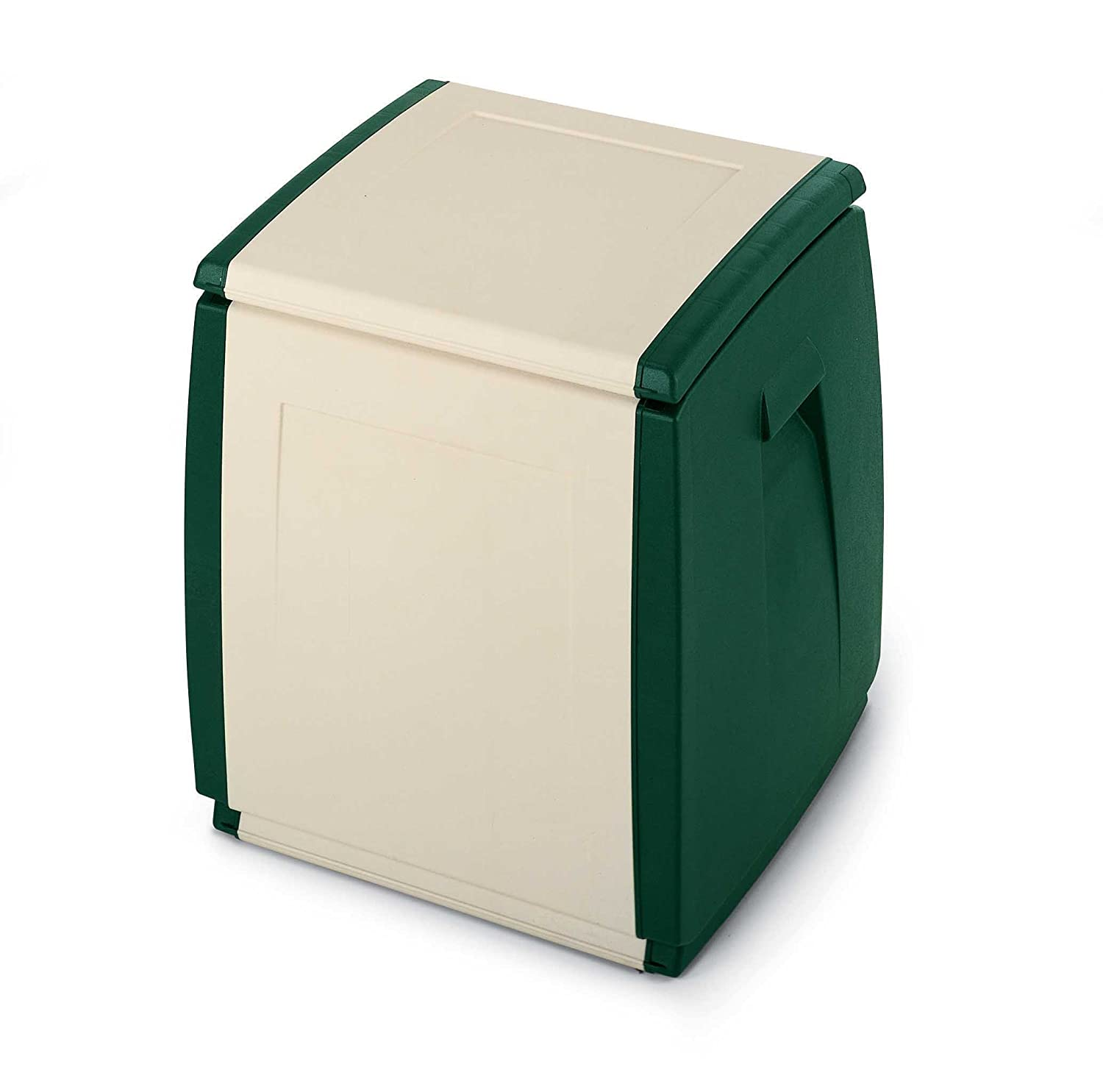 TERRY In & out Box 55 Baule in Plastica, Beige/Verde, 54 x 54 x 57 cm Terry Store-Age 1001254