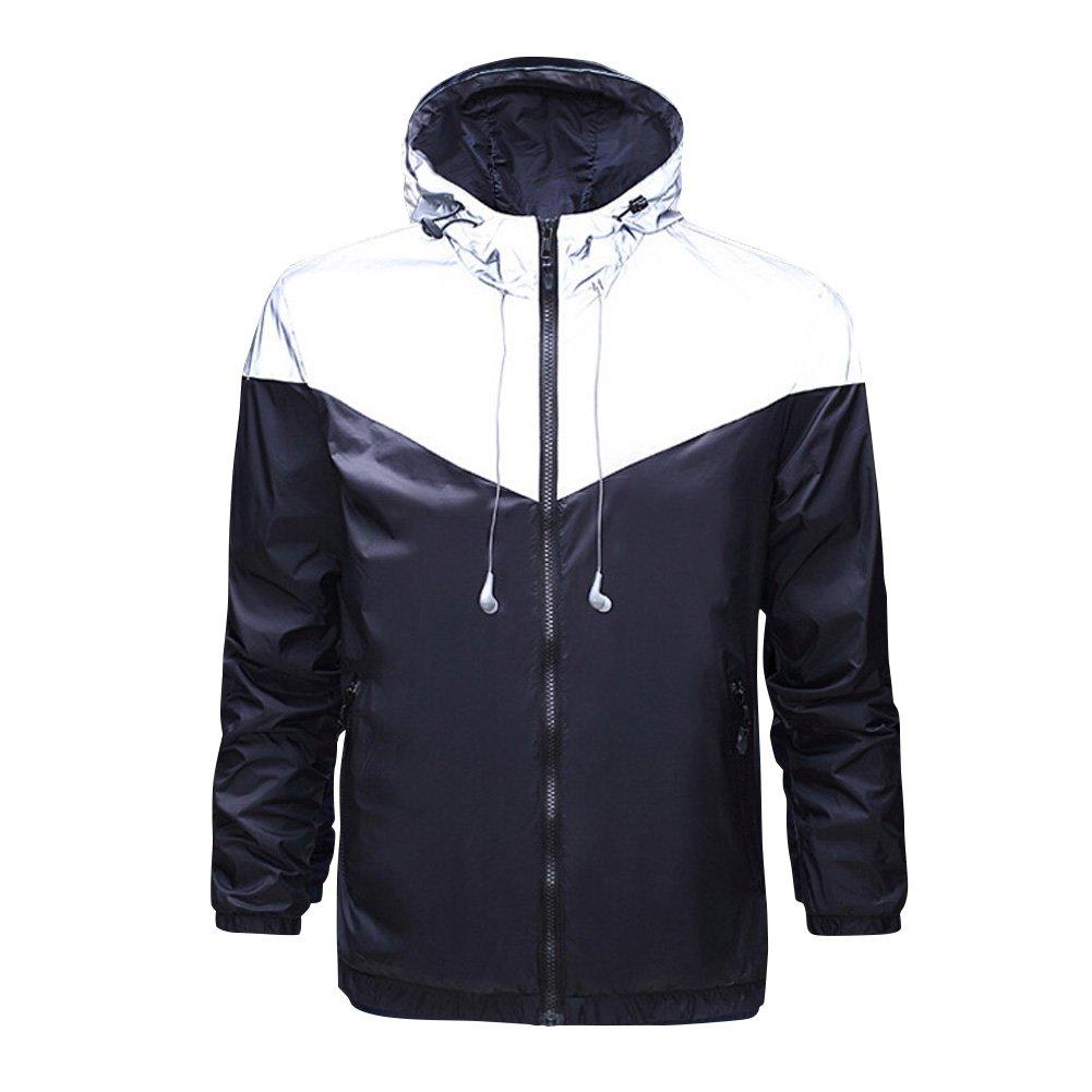 ELEAR? Unisex Men Women Windbreaker Waterproof Jacket Night Outdoor Clothing Monolayer Jackets