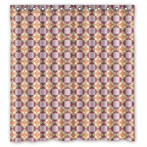 Monadicase Polyester Geometry Bath Curtains Width X Height