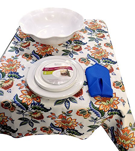 [Summer Table Setting, Includes Indoor/outdoor Cynthia Rowley Floral Tablecloth (60