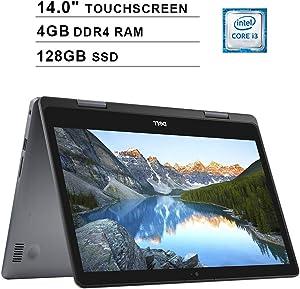 Dell Inspiron 14 i5481 14.0 Inch Touchscreen 2-in-1 Laptop (Intel Core i3-8145U 3.90 GHz, 4GB DDR4 RAM, 128GB SSD, Intel UHD, Bluetooth, Windows 10, Grey) (Renewed)