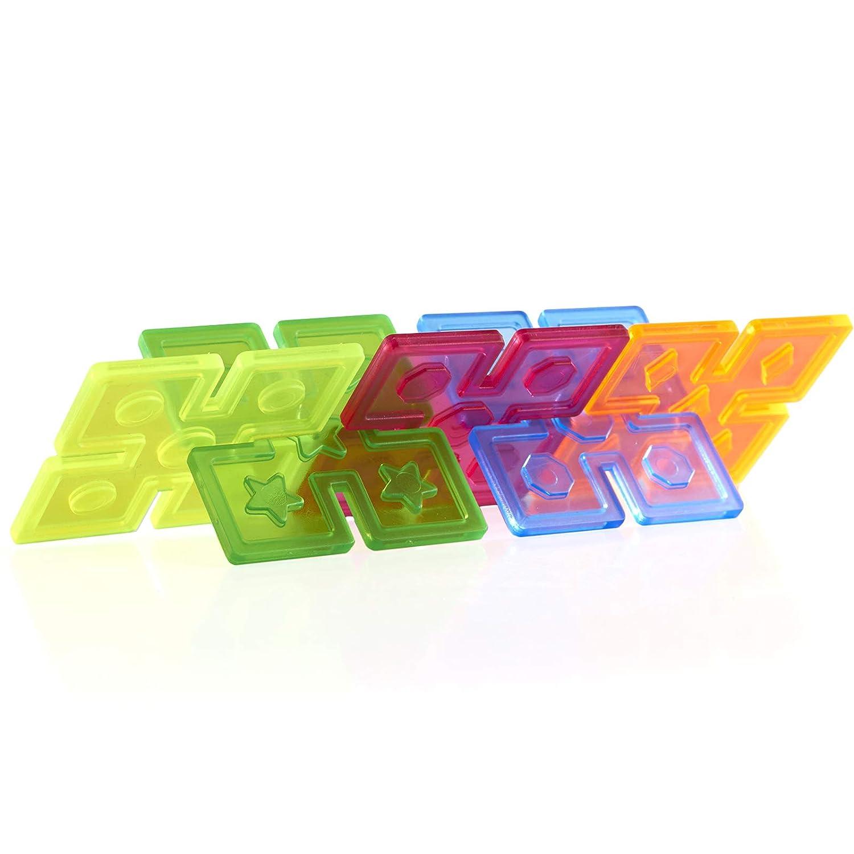 96 Piece Set Interlocking Construction Toy Guidecraft Interlox Squares