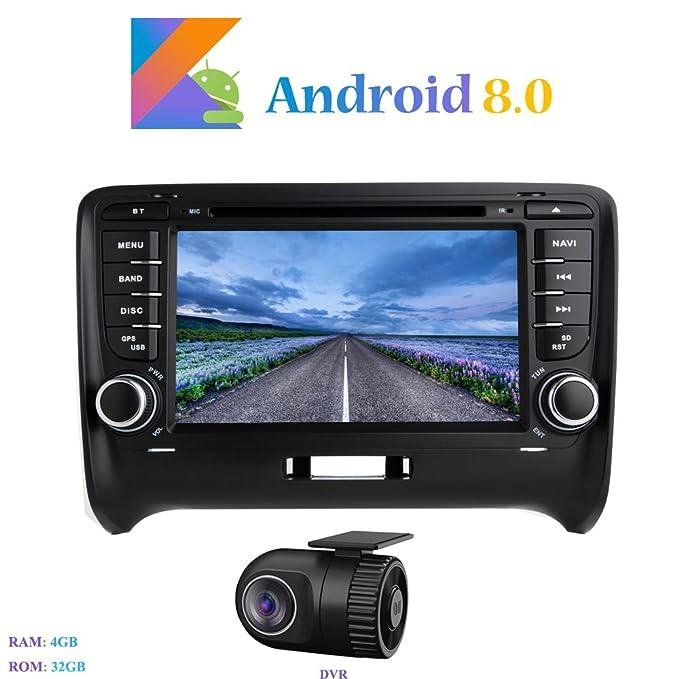Autoradio Hi-azul Android 8.0 Car Autoradio 8-Core RAM 4G ROM 32G Car Radio 8 Zoll Autonavigation Kopfeinheit Car Audio f/ür Mercedes-Benz CLK-W209 C209// C Class W203// Viano//Vito// A-Class