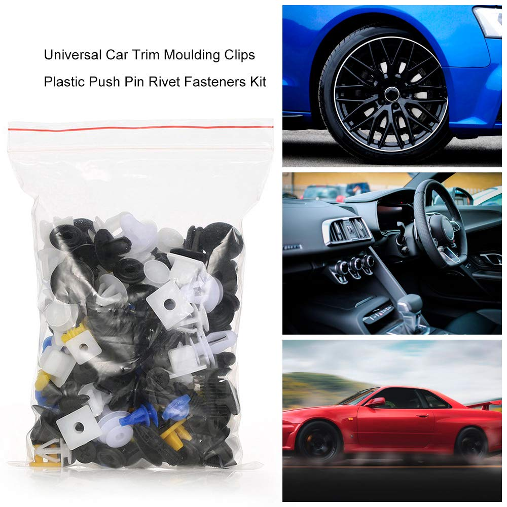 Universal Auto Body Trim Moulding Clips Plastic Push Retainer Pin Rivet Fasteners Panel Retainer Clips Assortment Kit