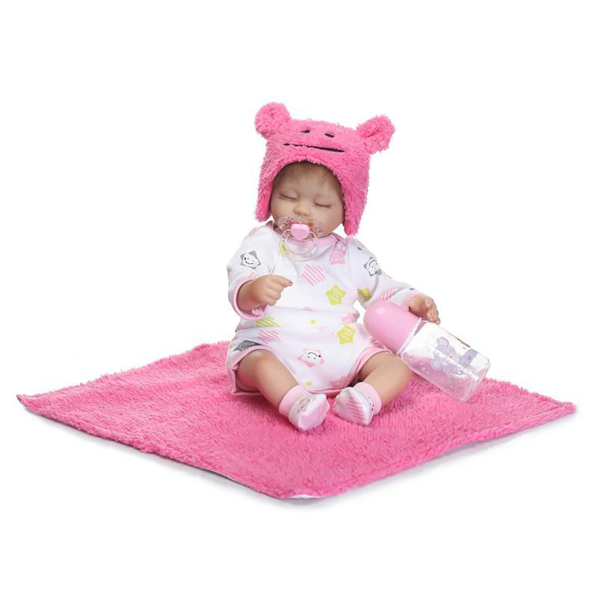 Bambolotti Giocattoli,42cm 17 Mini Lovely Cute Realistico Realistico Dormire Reborn Baby Doll Girl per Bambini Compleanno Compagno Partner di Crescita