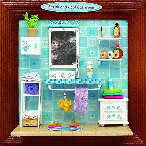 9月DIYフレーム家工芸モデル木製人形House家具withライトミニチュアドールハウスキット手作り誕生日Xmasおもちゃギフト