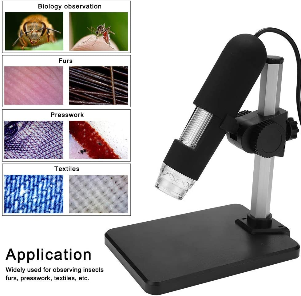Industrial Skin Hairpin Scalp Detection XDDWD Microscope 500 x USB HD Portable Professional Electronic Digital Microscope with Magnifier Holder