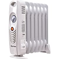 Costway Oil Filled Radiator Heater Portable Electric Home Room Heat Adjustable Thermostat 1500w