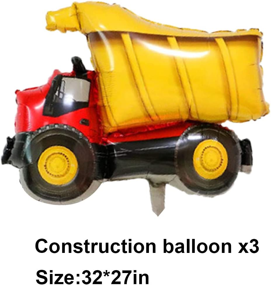 Birthday Party Decorations Construction Theme Birthday Party Supplies Dump Truck Sets Party Favors for Kids 72 Pieces