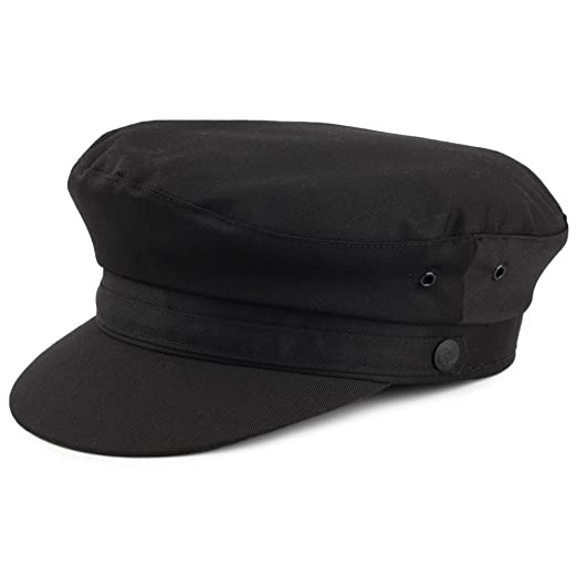 FIDDLER BLACK CORD CAP CORDUROY BRETON FISHERMAN HAT