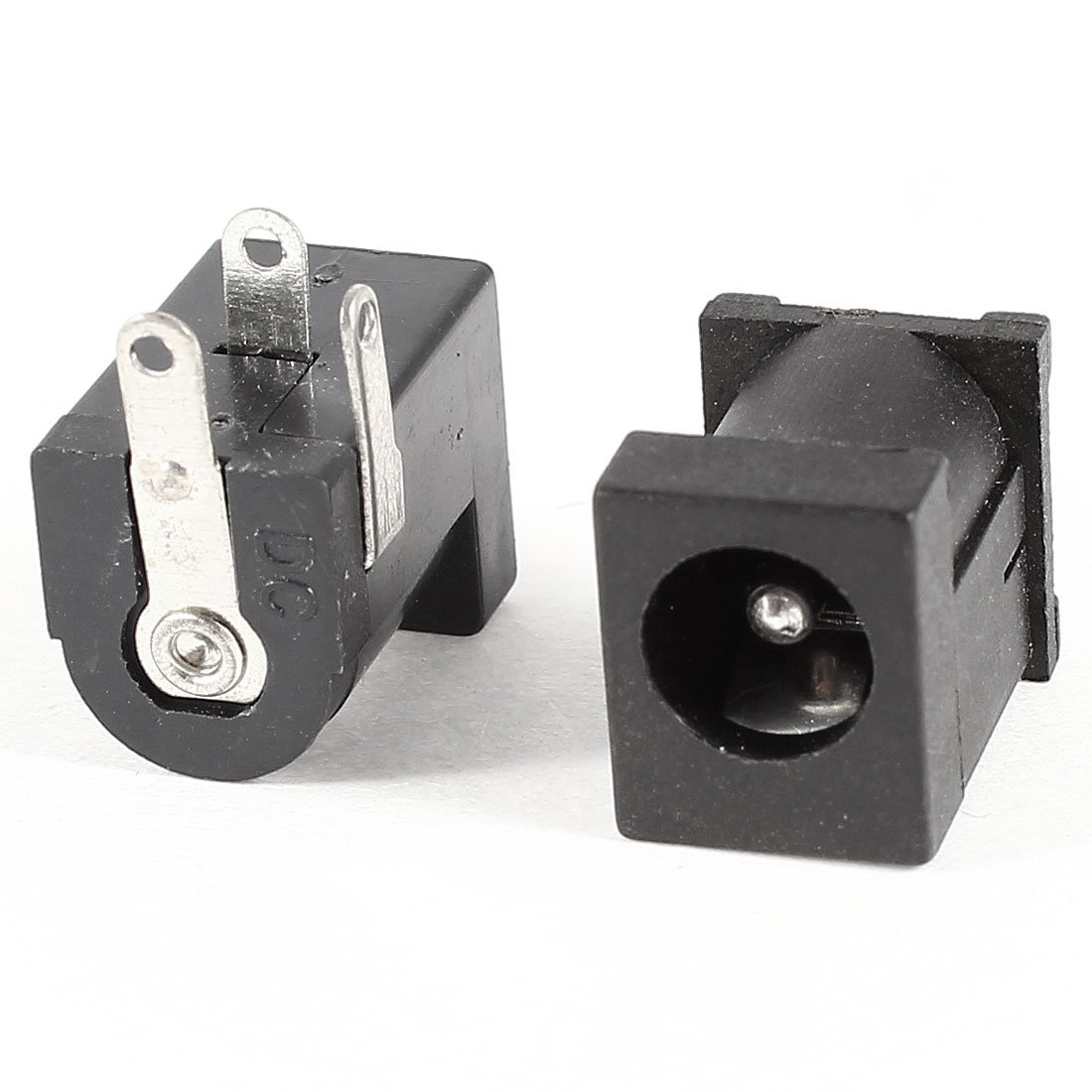 2 Pcs Black 3 Pin 2.1mmx5.5mm DC Power Jack Socket PCB Mount Connector uxcell a14011600ux0788