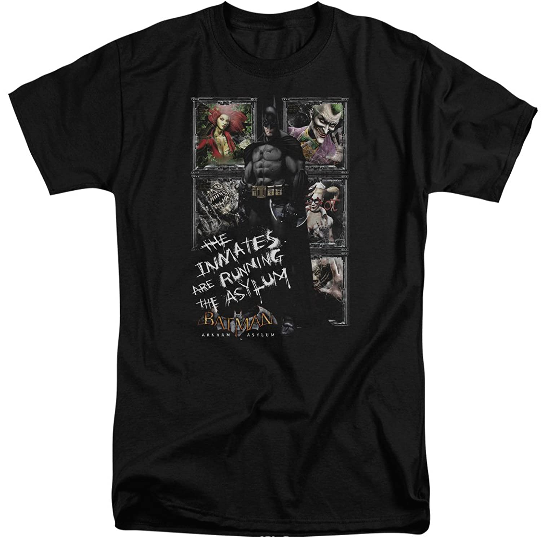 Batman Men's Running The Asylum Tall T-Shirt