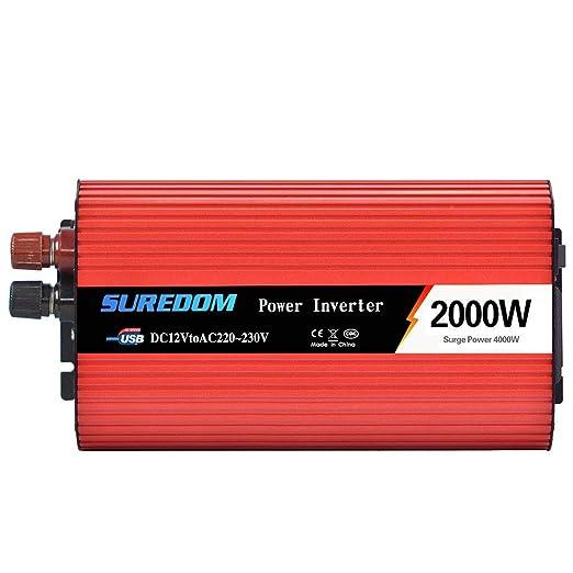 WDYu Lnversor de Corriente 12V a 220~230V Lnversor Onda Sinusoidal ...