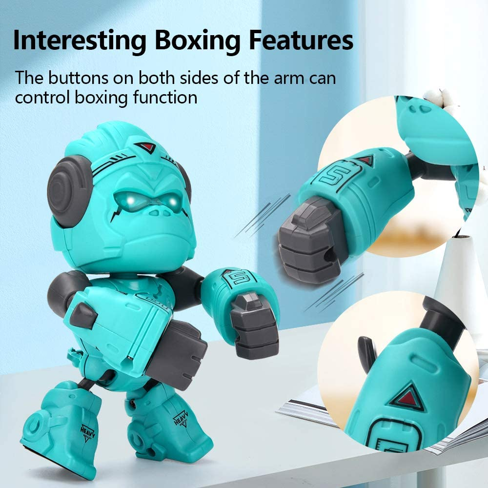 Gorilla Robot Toys for boy /& Girl Over 3 Year Old Touch Control,LED Eyes Birthday Gift ALLCELE Alloy Gorilla Toy for Kids,Interactive Robot Toy Blue