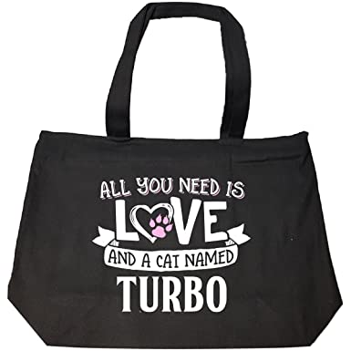 All You Need Is Love And A Cat Named Turbo Gift - Tote Bag With Zip