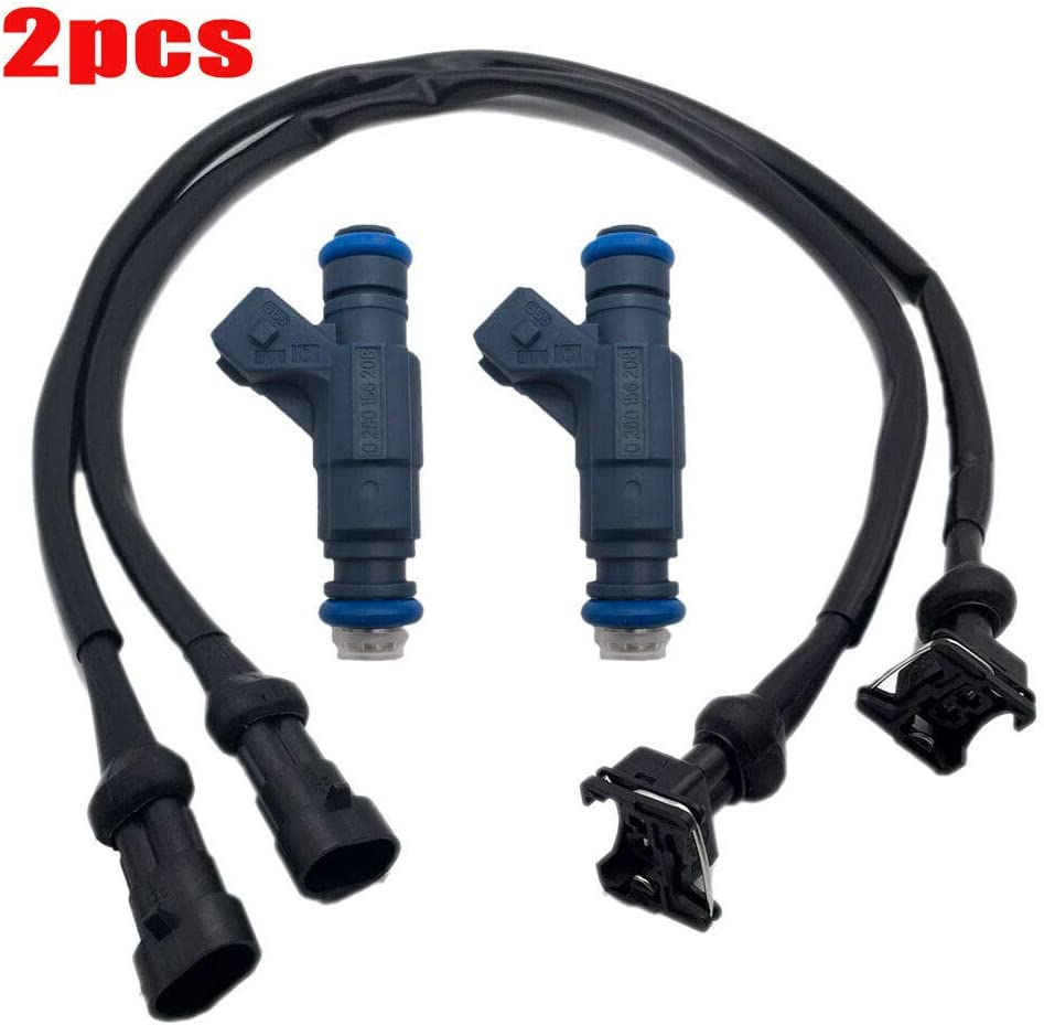 ALLMOST SET OF 2 Fuel Injector with Pigtail Harness FOR Polaris Ranger RZR Sportsman 700 800
