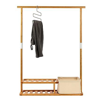 Amazon Segarty Garment Rack Heavy Duty Bamboo Clothes Rack Custom Coat Hanger Rack
