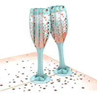 Lovepop Champagne Toast Pop Up Card, Celebration Card, 3D Cards, Anniversary Cards, Popup Greeting Cards, Wedding Cards