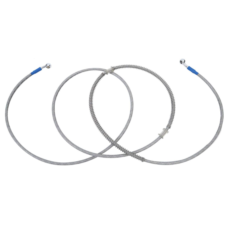 Cikuso Ligne de Tuyau DHuile de Frein de Moto de 120 Cm Banjo Raccordant LAcier Inoxydable Tress/é