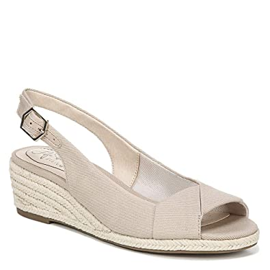 fa6ef7d7988 LifeStride Women's Socialite Espadrille Wedge Sandal, Taupe, 6.5 W US