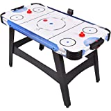 "Goplus 54"" Air Powered Hockey Table Indoor Sports Game Room Electronic Scoring For Kids"