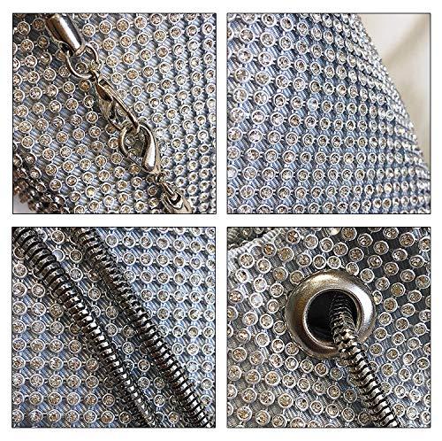 Pochette femme Yukijiaojiao Pochette Silver femme Silver Yukijiaojiao Yukijiaojiao qOXYq
