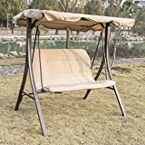 Bestmart INC Outdoor Garden Yard Patio Streamer Seat Relaxer Balcony Canopy Porch Swing Glider Hammock Chair