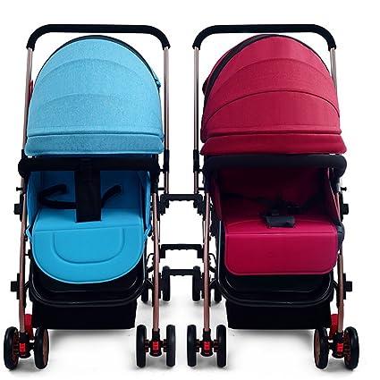 Silla de paseo El cochecito de bebé gemelo se puede dividir ...