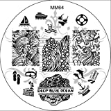 MESSY MANSION MM64 Nail Art Stamping Plate - Summer Beach Holiday