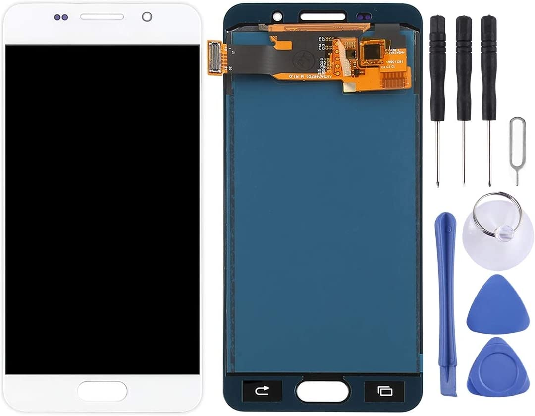 LCD Screen and Digitizer Full Assembly for Galaxy A3 2019 TFT Material A310M//DS A310Y Touch Panel Replacement A310F//DS Color : White A310M A310F