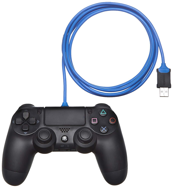 AmazonBasics PlayStation 4 Controller Charging Cable - 6 Foot, Blue